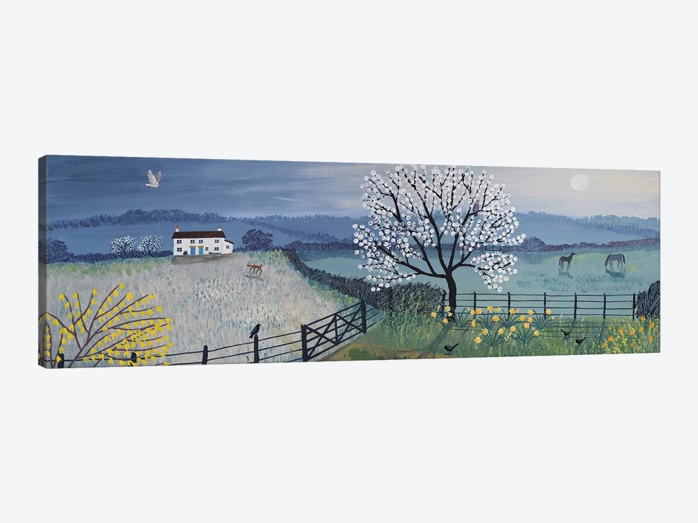 Spring Moon by Jo Grundy 1-piece Canvas Artwork