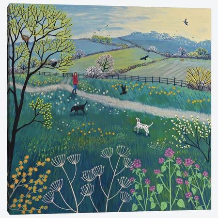 Spring Walk Canvas Print #JOG31} by Jo Grundy Canvas Art