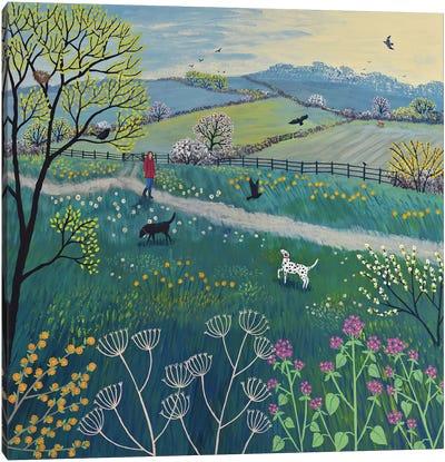 Spring Walk Canvas Art Print