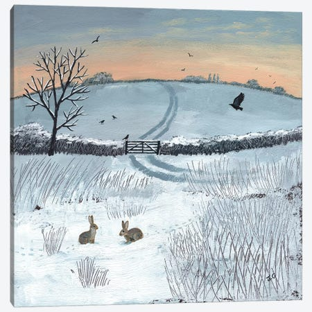 Winter Dawn Canvas Print #JOG35} by Jo Grundy Art Print