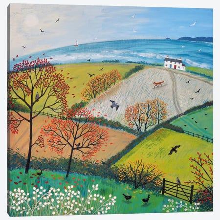 Autumn Breeze Canvas Print #JOG3} by Jo Grundy Canvas Print