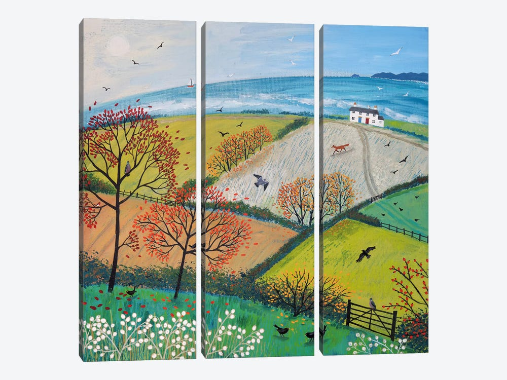 Autumn Breeze by Jo Grundy 3-piece Canvas Wall Art