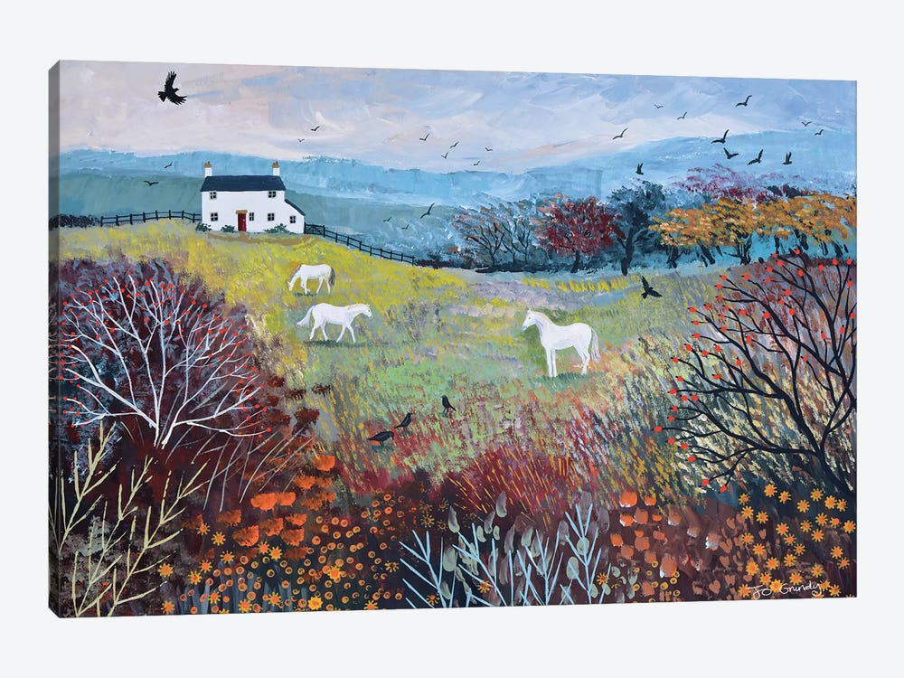 Autumn At White Horse Cottage by Jo Grundy 1-piece Canvas Print