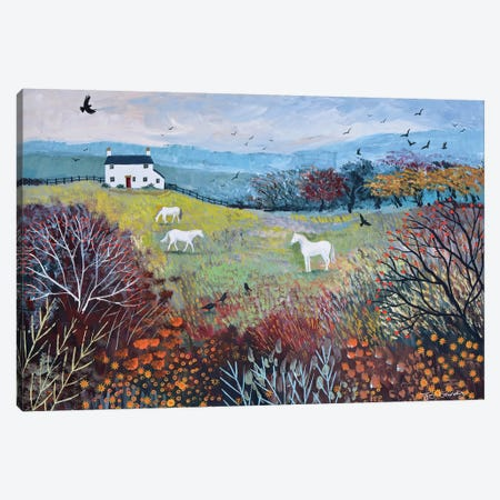 Autumn At White Horse Cottage Canvas Print #JOG40} by Jo Grundy Art Print