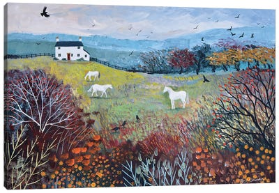 Autumn At White Horse Cottage Canvas Art Print
