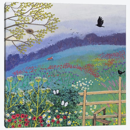 Over The Stile Canvas Print #JOG44} by Jo Grundy Canvas Art