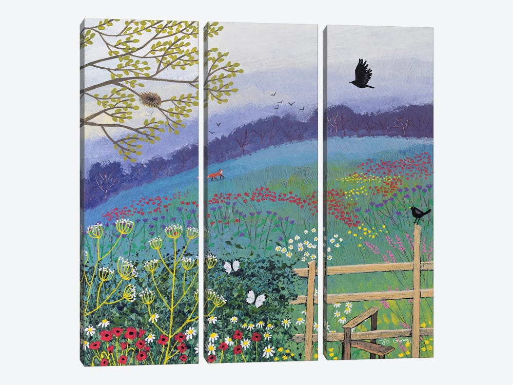 Over The Stile by Jo Grundy 3-piece Canvas Art Print