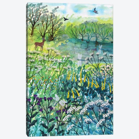 By Tranquil Pool Canvas Print #JOG46} by Jo Grundy Canvas Wall Art