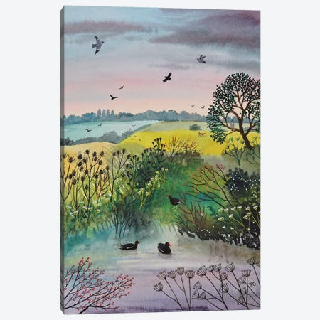 Evening At Moorhen Pool Canvas Print #JOG48} by Jo Grundy Canvas Art Print