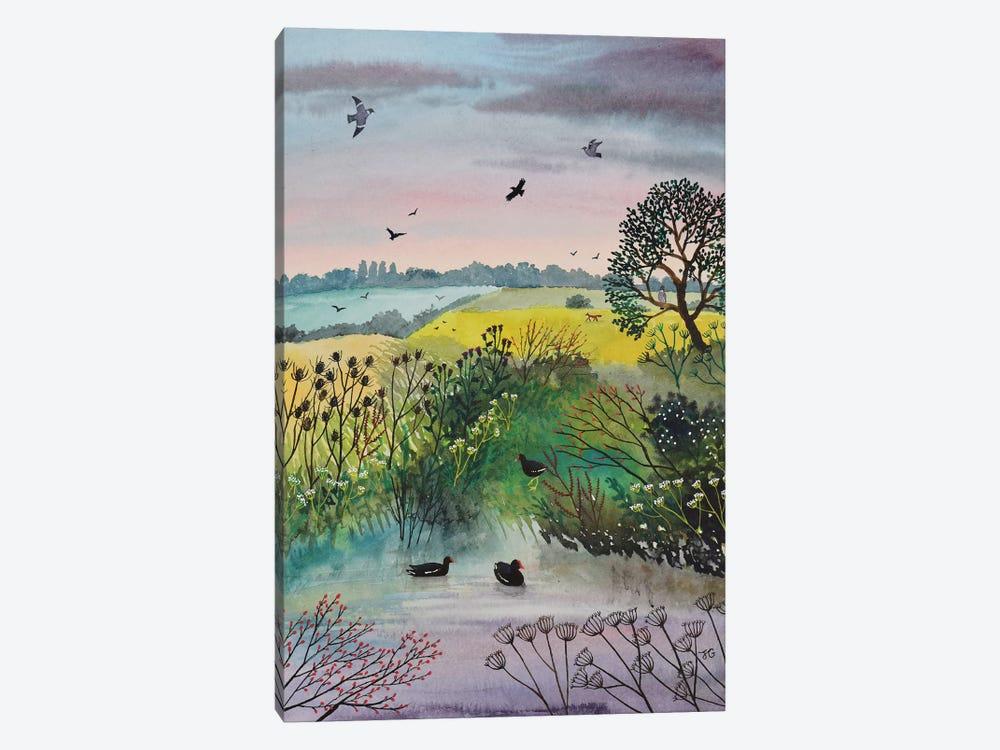 Evening At Moorhen Pool by Jo Grundy 1-piece Art Print