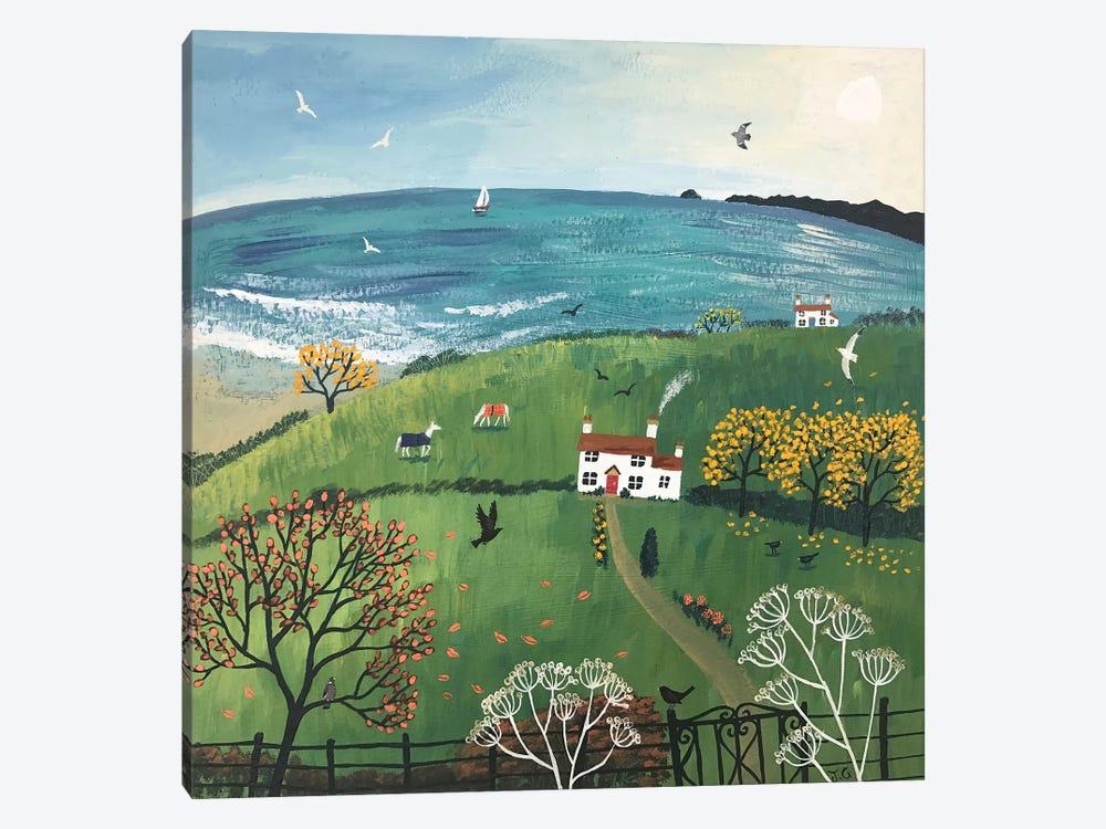 Autumn Beside The Sea by Jo Grundy 1-piece Canvas Wall Art