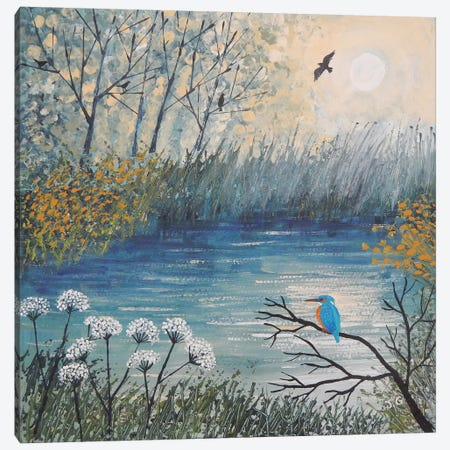 King Of The River Canvas Print #JOG51} by Jo Grundy Canvas Artwork