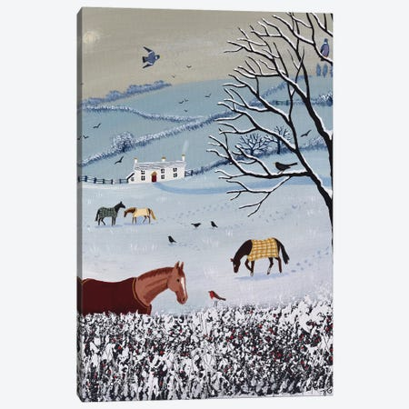 Over Snowy Hedge Canvas Print #JOG52} by Jo Grundy Canvas Artwork