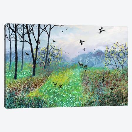 Snowdrop Copse Canvas Print #JOG53} by Jo Grundy Canvas Wall Art