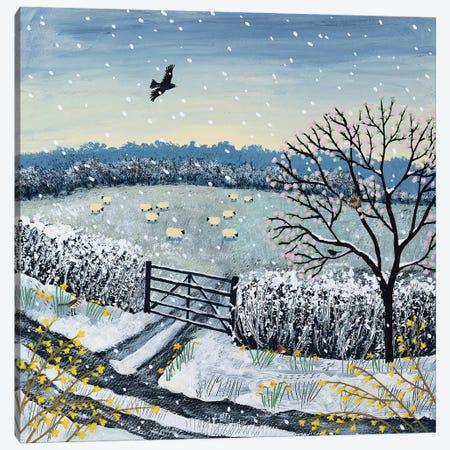 Snowflakes And Blossom Canvas Print #JOG54} by Jo Grundy Canvas Art Print