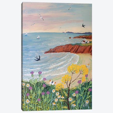 By Red Cliff Bay Canvas Print #JOG59} by Jo Grundy Canvas Artwork