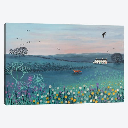 Across Dusky Meadow Canvas Print #JOG60} by Jo Grundy Canvas Art Print