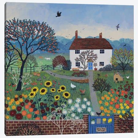 Apple Tree Cottage Canvas Print #JOG61} by Jo Grundy Art Print