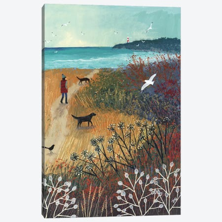 Walk To The Sea Canvas Print #JOG63} by Jo Grundy Canvas Art Print