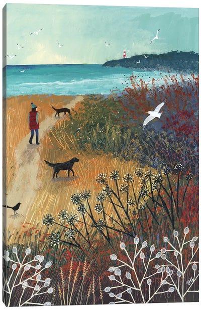 Walk To The Sea Canvas Art Print