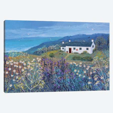 A Place By The Sea Canvas Print #JOG65} by Jo Grundy Canvas Artwork