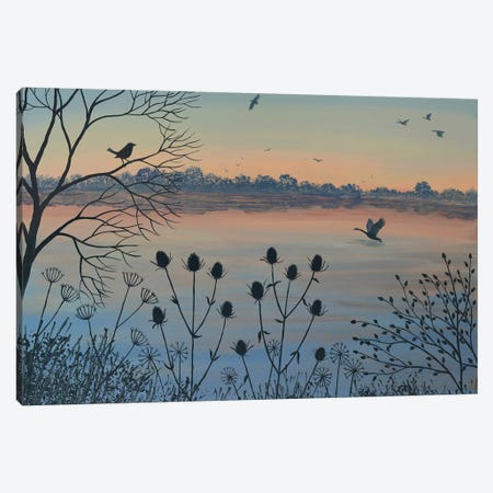 By Dusky Lake Canvas Print #JOG66} by Jo Grundy Canvas Wall Art
