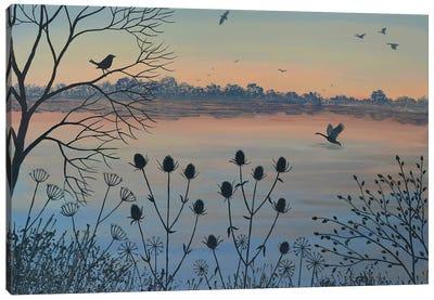 By Dusky Lake Canvas Art Print