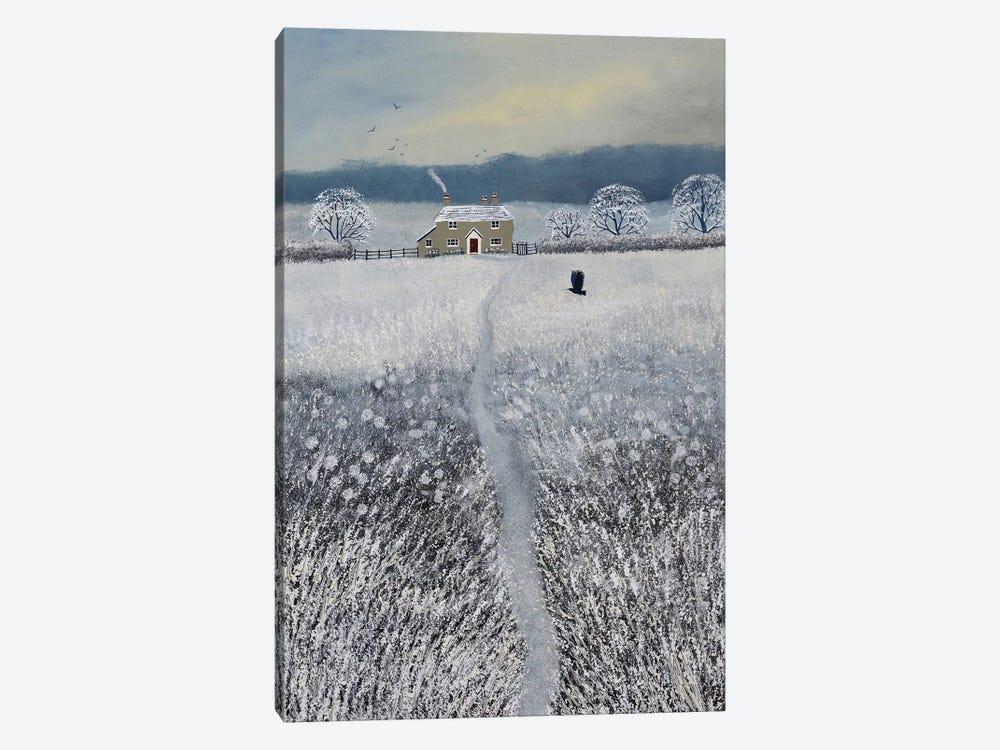 The Path To Winter Cottage by Jo Grundy 1-piece Art Print