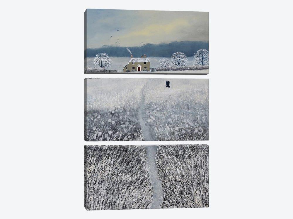 The Path To Winter Cottage by Jo Grundy 3-piece Art Print