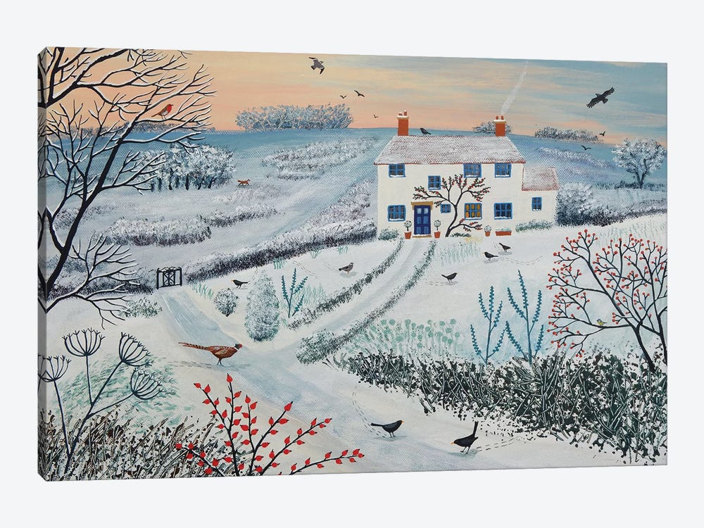 Cottage By Winter Common by Jo Grundy 1-piece Art Print