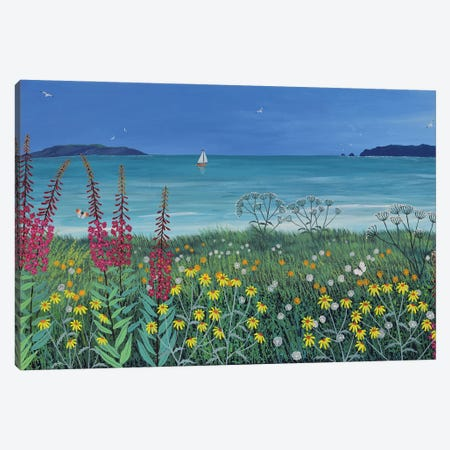 Ocean Solace Canvas Print #JOG75} by Jo Grundy Art Print