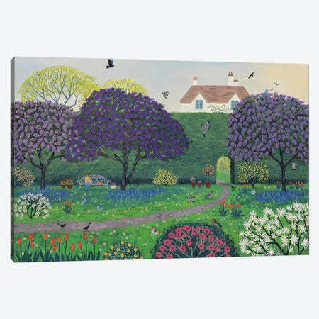 Under The Lilacs Canvas Print #JOG76} by Jo Grundy Canvas Art Print
