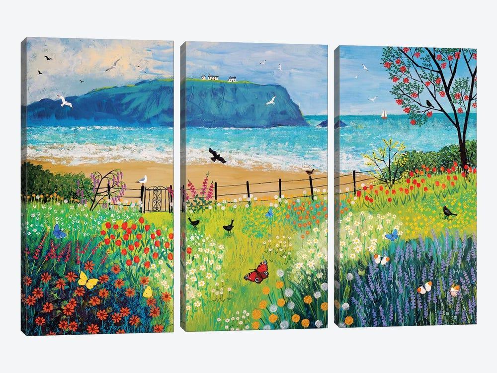 Garden Beside The Sea by Jo Grundy 3-piece Canvas Artwork