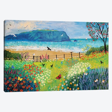 Garden Beside The Sea Canvas Print #JOG7} by Jo Grundy Canvas Wall Art
