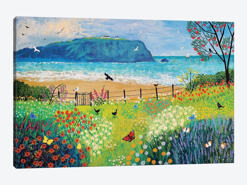 Garden Beside The Sea by Jo Grundy 1-piece Canvas Artwork
