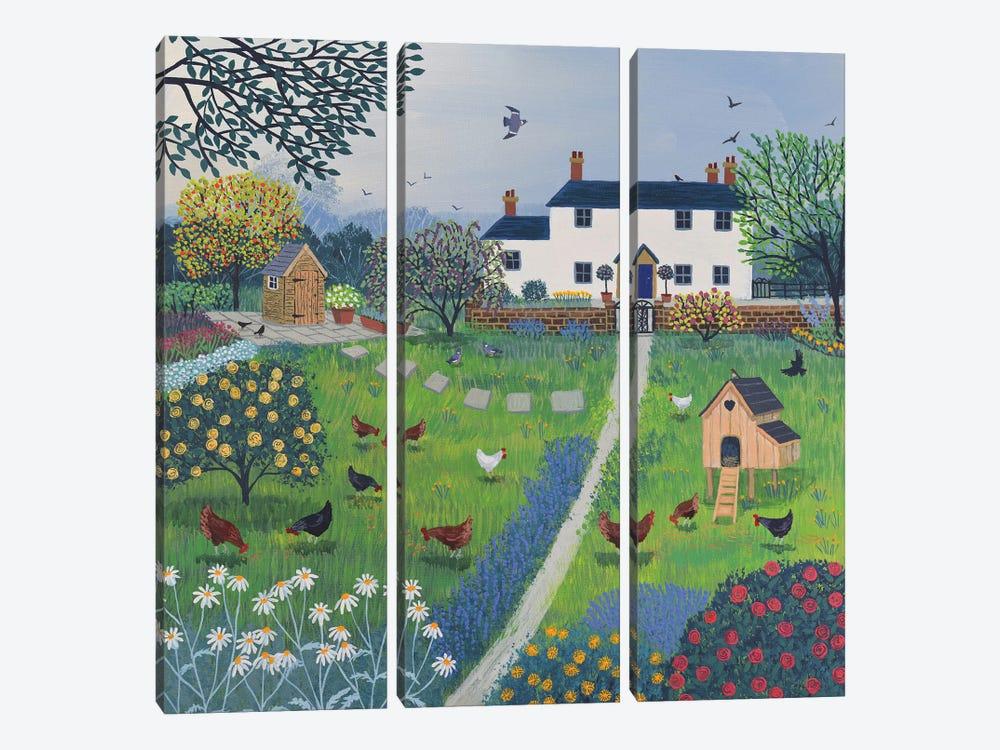 The Hen House by Jo Grundy 3-piece Canvas Art Print