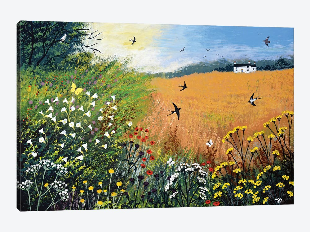 Harvest Swallows by Jo Grundy 1-piece Canvas Print