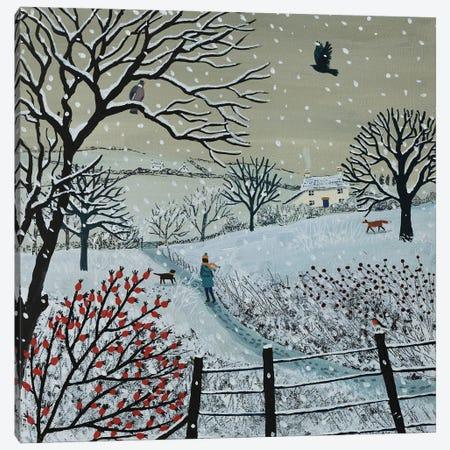 A Snowy Walk Canvas Print #JOG91} by Jo Grundy Canvas Artwork