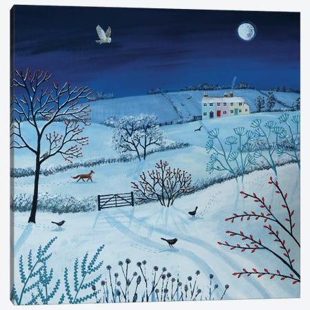 One Snowy Night Canvas Print #JOG9} by Jo Grundy Art Print
