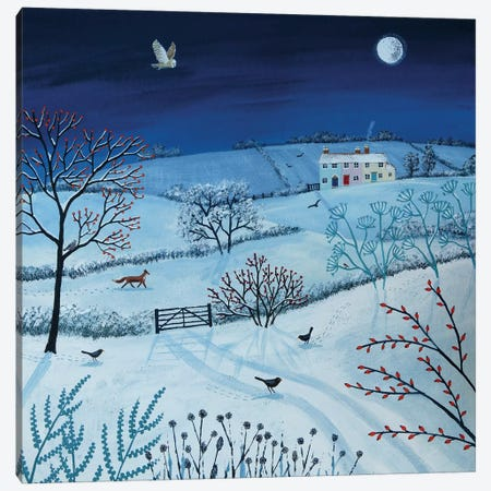 One Snowy Night Canvas Print #JOG9} by Jo Grundy Art Print