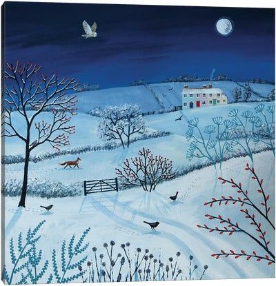 One Snowy Night Canvas Art Print