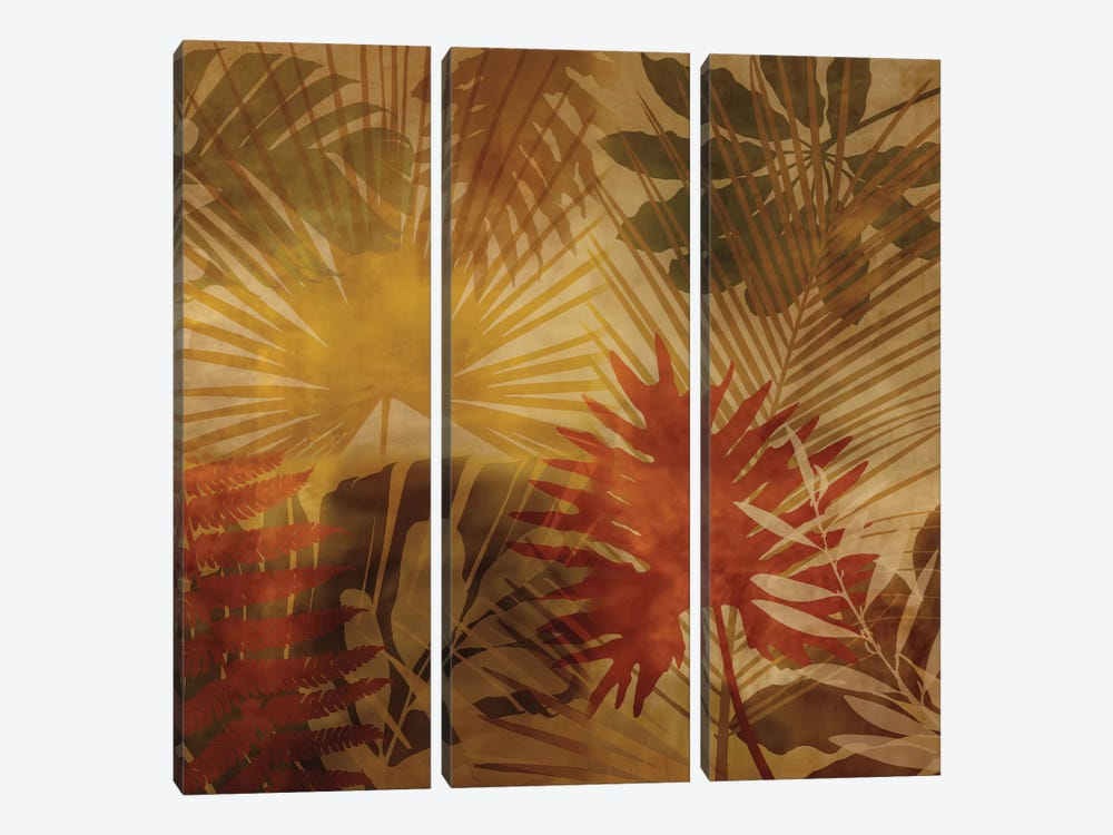 Sunlit Palms I by John Seba 3-piece Canvas Artwork