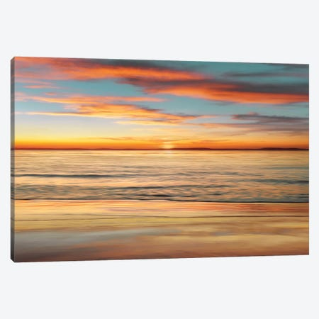 Surf And Sand Canvas Print #JOH102} by John Seba Canvas Artwork
