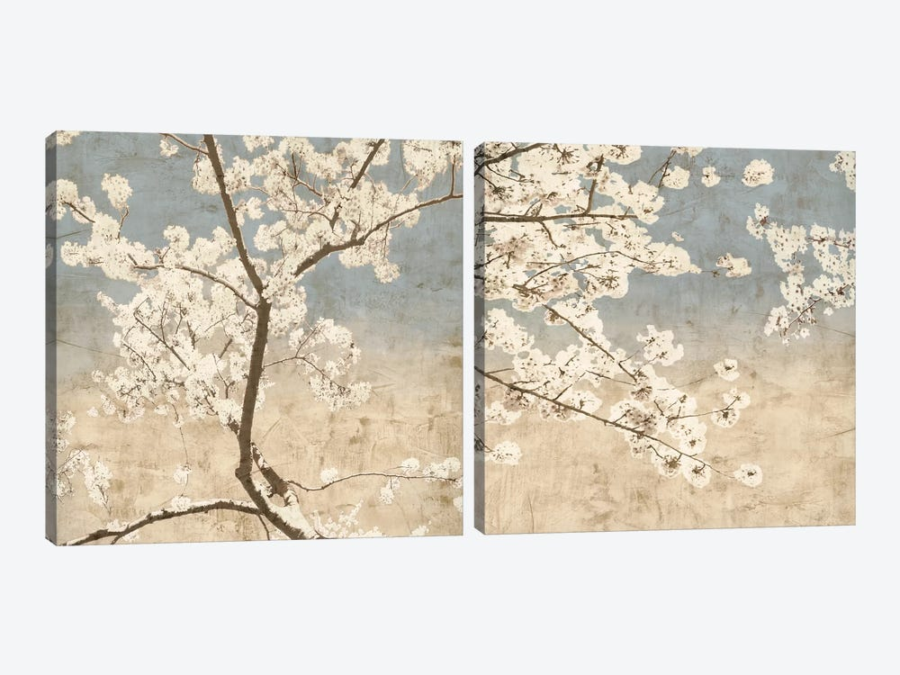 Cherry Blossoms Diptych 2-piece Canvas Print