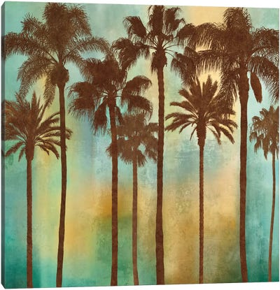 Aqua Palms I Canvas Art Print