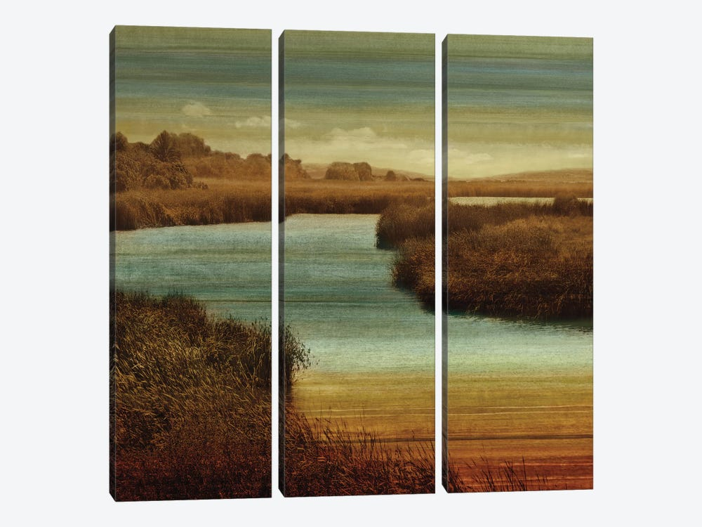 On The Water II by John Seba 3-piece Canvas Wall Art