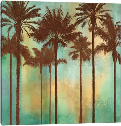 Aqua Palms II Canvas Art Print