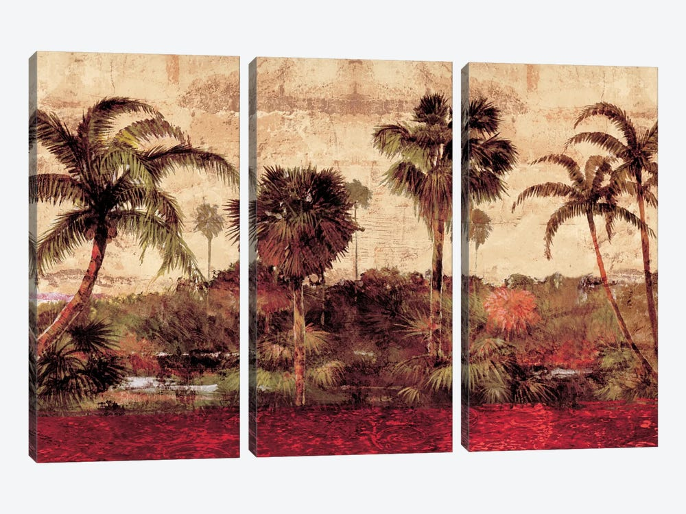 Palm Garden by John Seba 3-piece Canvas Artwork