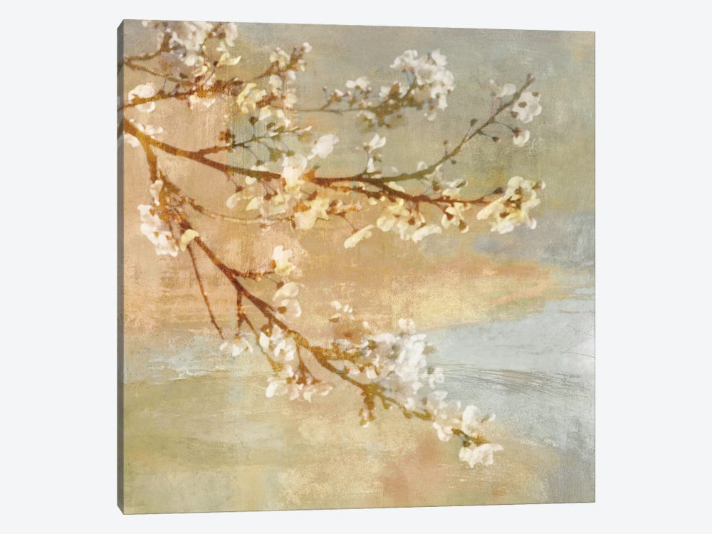 Blossoms On The Pond I 1-piece Canvas Art