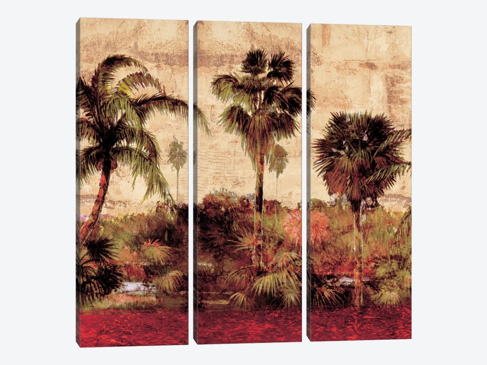 Palmas II by John Seba 3-piece Canvas Wall Art